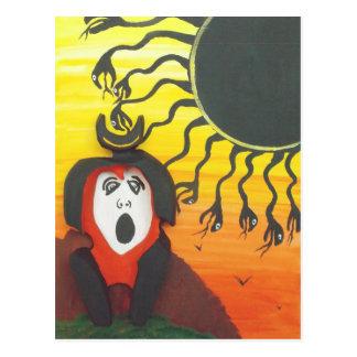 Sacrifice to the Solar Snake God Postcard