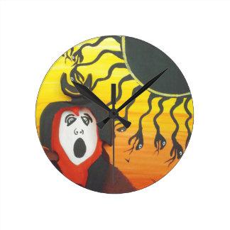 Sacrifice to the Solar Snake God Round Clock