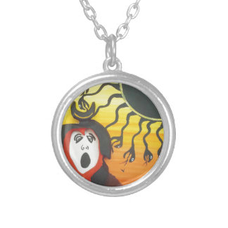 Sacrifice to the Solar Snake God Silver Plated Necklace