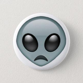 Sad Alien Emoji 2 Inch Round Button