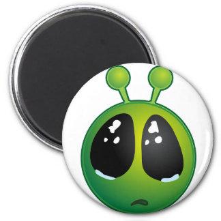 Sad Alien Face Locker or Refrigerator Magnet
