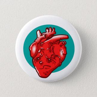 sad and broken heart cartoon 2 inch round button