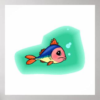 Sad Baby Fish Print