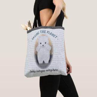 Sad Baby Polar Bear Climate Change Tote Bag