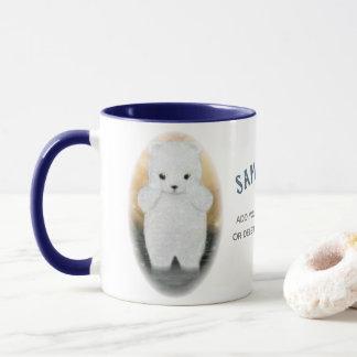 Sad Baby Polar Bear Global Warming Mug