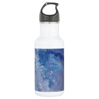 Sad blue white purple abstract paint wave water 532 ml water bottle