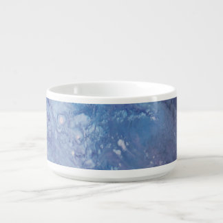 Sad blue white purple abstract paint wave water bowl