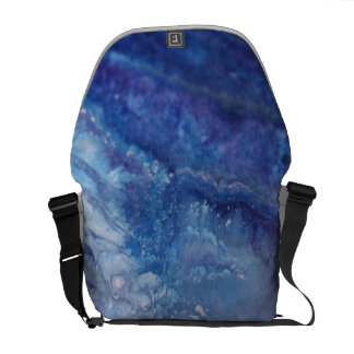 Sad blue white purple abstract paint wave water commuter bag