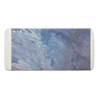Sad blue white purple abstract paint wave water eraser
