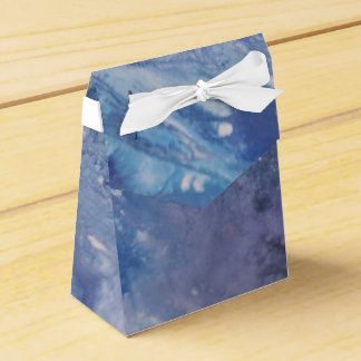 Sad blue white purple abstract paint wave water favor box