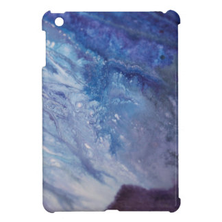 Sad blue white purple abstract paint wave water iPad mini case