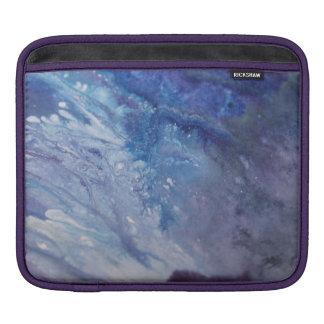 Sad blue white purple abstract paint wave water iPad sleeve