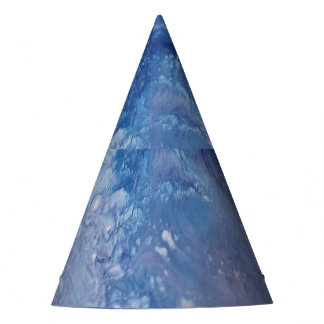Sad blue white purple abstract paint wave water party hat