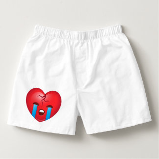 Sad Broken Heart Emoji Boxers
