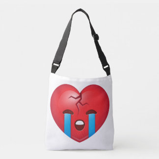 Sad Broken Heart Emoji Crossbody Bag