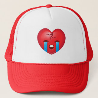Sad Broken Heart Emoji Trucker Hat