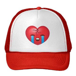 Sad Broken Heart Emoji Trucker Hat