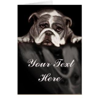 Sad bulldog emotional note card for any sad moment