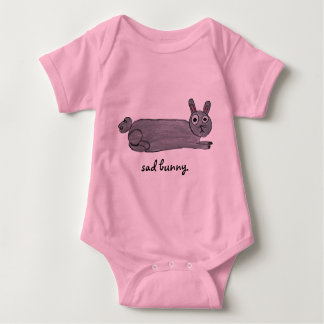 Sad Bunny Baby Baby Bodysuit