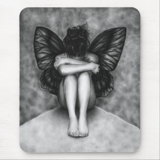 Sad Butterfly Girl Mousepad