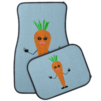 Sad Carrot by Kenneth Yoncich Floor Mat
