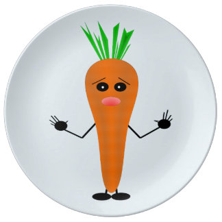 Sad Carrot by Kenneth Yoncich Plate
