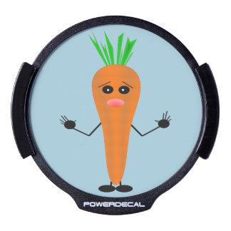 Sad Carrot LED Auto Decal