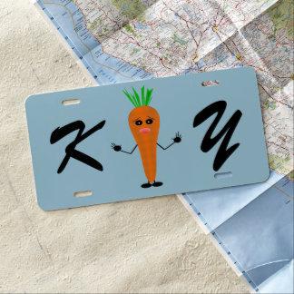 Sad Carrot License Plate