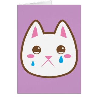 SAD CAT CARD
