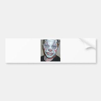 Sad Clowns Scary Clown Face Painting Bumper Stickers