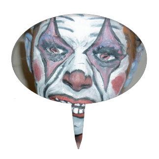 Sad Clowns Scary Clown Face Painting Cake Pick