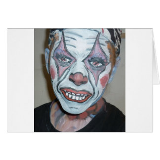 Sad Clowns Scary Clown Face Painting Greeting Cards