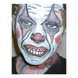 Sad Clowns Scary Clown Face Painting Custom Letterhead