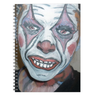 Sad Clowns Scary Clown Face Painting Spiral Notebook