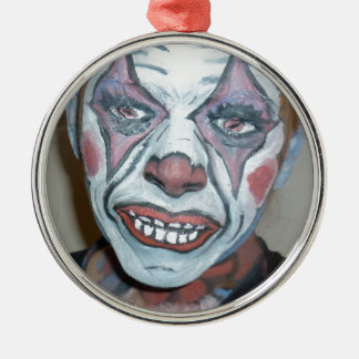 Sad Clowns Scary Clown Face Painting Christmas Ornament