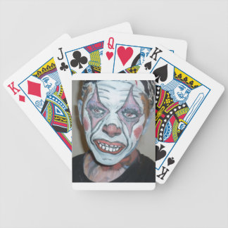 Sad Clowns Scary Clown Face Painting Bicycle Playing Cards