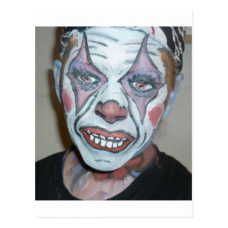 Sad Clowns Scary Clown Face Painting Postcard