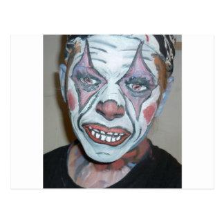 Sad Clowns Scary Clown Face Painting Post Card