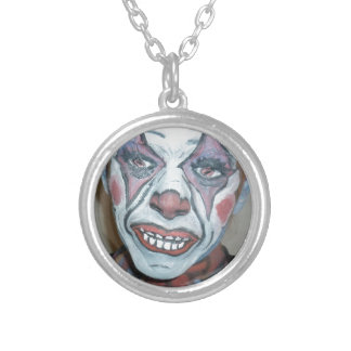 Sad Clowns Scary Clown Face Painting Round Pendant Necklace