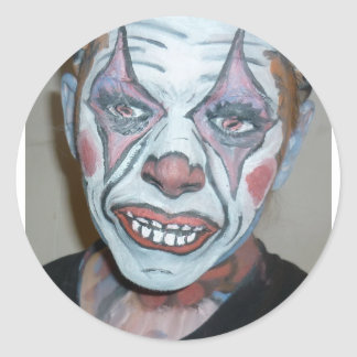 Sad Clowns Scary Clown Face Painting Round Stickers