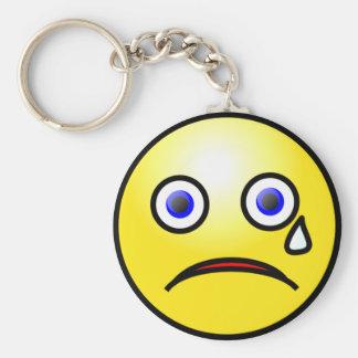 Sad Crying Face Keychain