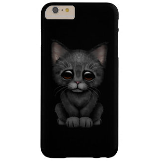 Sad Cute Black Kitten Cat Barely There iPhone 6 Plus Case