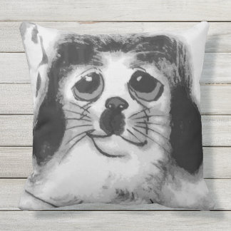 SAD DOG OUTDOOR PILLOW