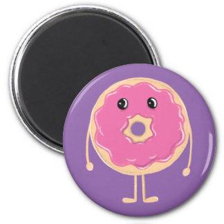 Sad Doughnut 2 Inch Round Magnet