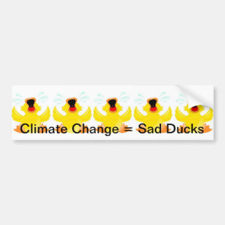 Sad Ducks Bumper sticker