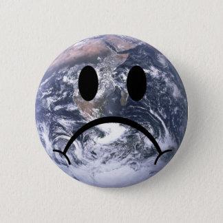 Sad earth badge 2 inch round button