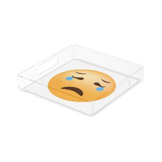 Sad Emoji Acrylic Tray