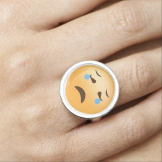 Sad Emoji Photo Ring