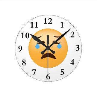 Sad Emoji Round Clock