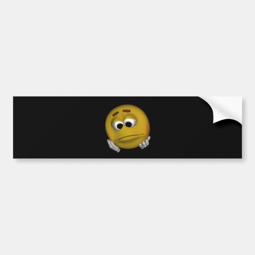 Sad Emoticon Bumper Sticker